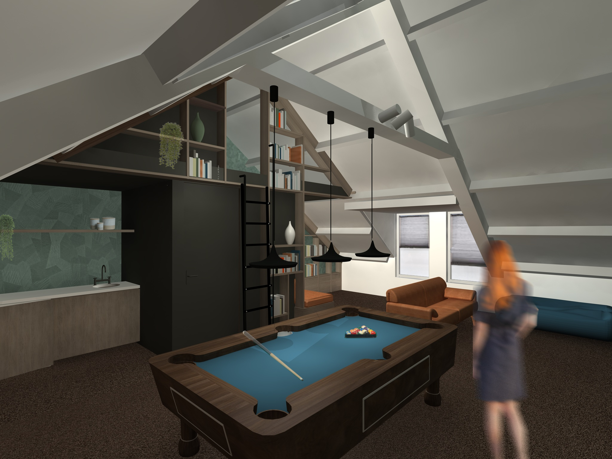 Interieurontwerp – Zolder woonhuis Landgraaf